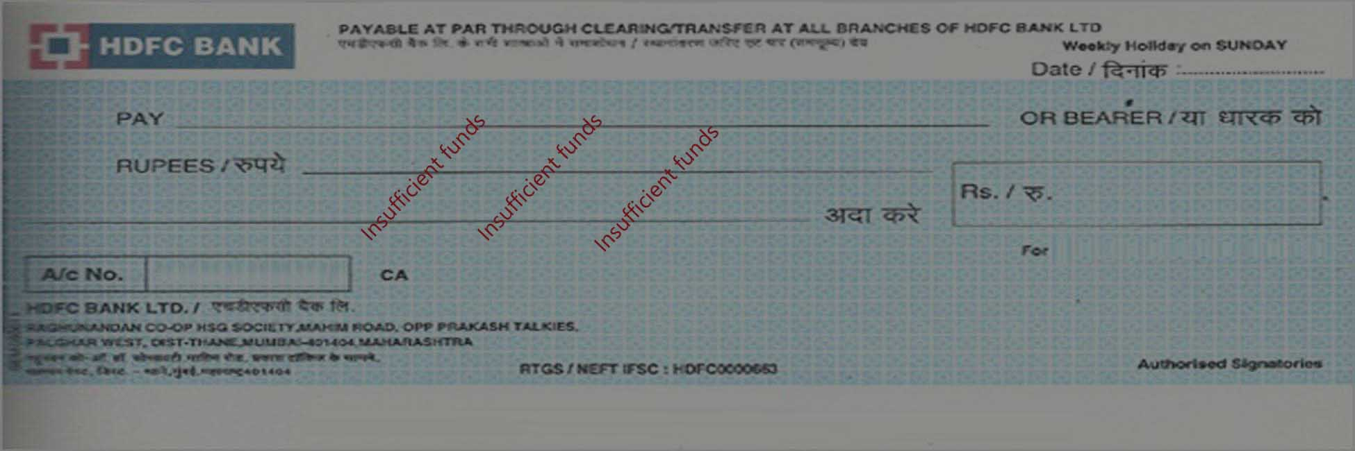 lawyers for dishoner of cheque